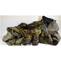 Box Lot Assorted Hunting Clothing