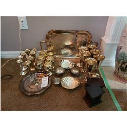 Assorted silver plated items