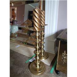 Ornamental candlesticks x 2