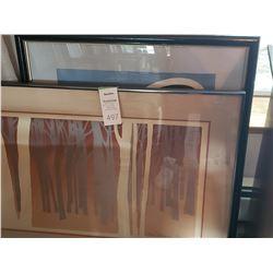 2 x framed paintings