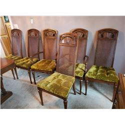 Lot of six dining chairs