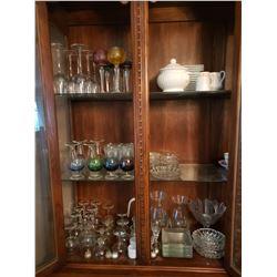 Lot of assorted glass dinnerware