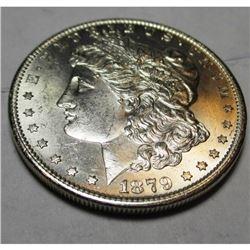 1879 s Crisp BU Morgan Silver Dollar