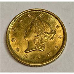 1854 TYPE 1 Gold Dollar
