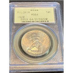 1920 Pilgrim MS 64 PCGS OGH Half Dollar