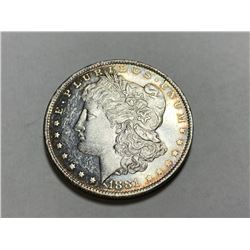 1881 New Orleans Morgan Silver Dollar Rainbow
