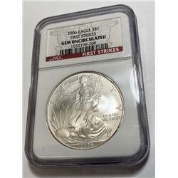 2006 GEM UNC 1st Strike NGC US Silver Eagle
