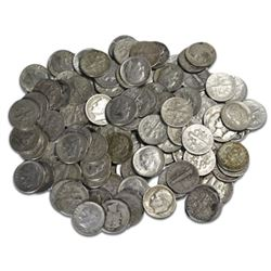 $5 Face Value Roosevelt Dimes- 50 pcs-90% Silver