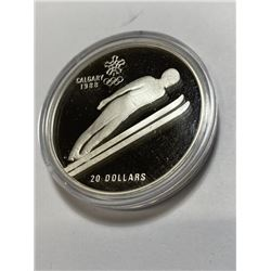 1987 Issued Canada 1988 Olympic Silver 1 oz