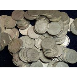 Lot of (100) V Nickels - Various RANDOM Dates