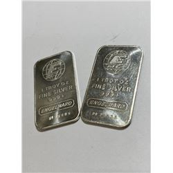 (2) 1 oz Engelhard Collectible Silver Bars