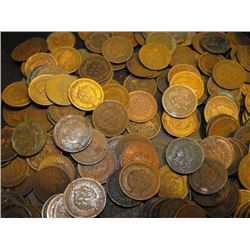 Lot of 100 Indian Head Cents - From Photo