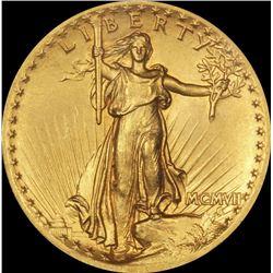 1907 Wire Rim Hi Relief Saint Gauden's AU