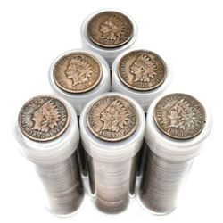 Lot of 300 Indian Head Cents in Tubes -