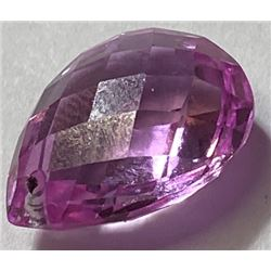 11 ct. Pink Sapphire Checkerboard Pear Drop
