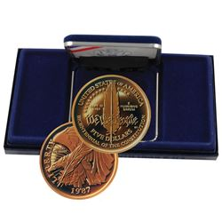 A Mint Pack 1987 US Constitution Gold Proof $5