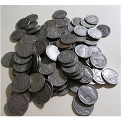 Lot of (100) Buffalo Nickels- Various Dates