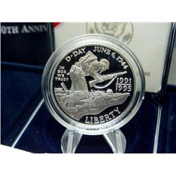 1991-1995 WWII 50th Anniversary Proof Silver DollA