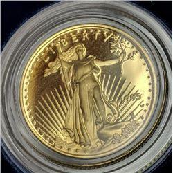 1995 US Gold Eagle 1/4 oz. OMB Velvet Holder