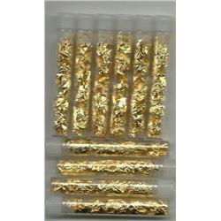 10 pcs. Gold Leaf Scraps Vials - NON BULLION