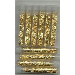 10 pcs. Gold Leaf Scraps Vials - NON BULLION