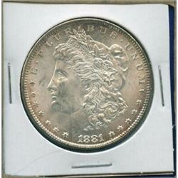 1881 P Better Date BU Morgan Silver Dollar