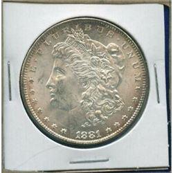 1881 P Better Date BU Morgan Silver Dollar