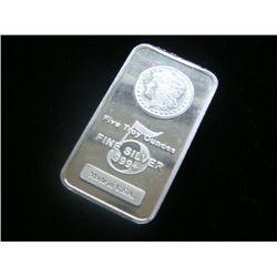 5 oz. Morgan Design Silver Bar
