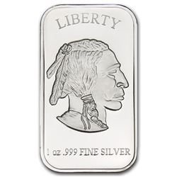 Silver 1 oz. Buffalo/Bison Bar -.999 Pure