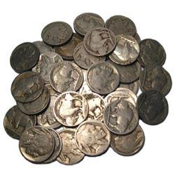 (40) Buffalo Nickels - Random Date and Grade