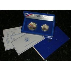 1986 2 Coin Statue Of Liberty Proof Set