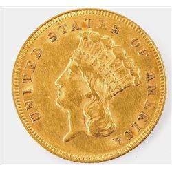 1878 $3 Gold RARE COIN - AU Grade