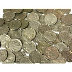 Lot of (40) Buffalo Nickels- Mixed Date and Grade