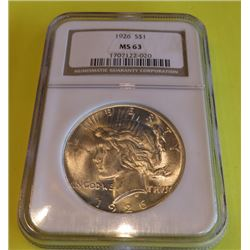 1926 MS  63 NGC Peace Silver Dollar