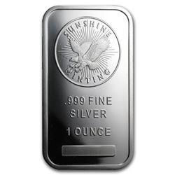 1 oz Silver Sunshine Silver Bar