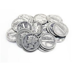 20 pcs Mercury Dimes - 90% Silver