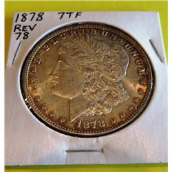 1878 7TF Rev 78 Morgan Silver Dollar