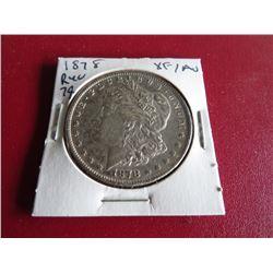 1878 REV 79 XF Au Morgan Silver Dollar