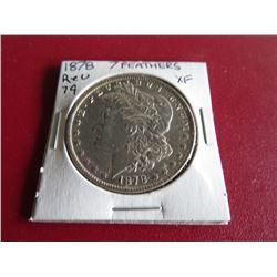1878 7TF Rev. of 79 XF Grade Morgan Dollar