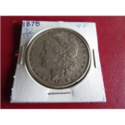 1878 7 TF XF Grade Morgan Silver Dollar