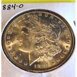 1884 o Crisp BU Morgan Silver Dollar