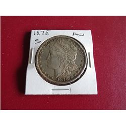 1878 s AU Grade Morgan Silver Dollar