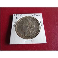 1878 s XF AU Morgan Silver Dollar