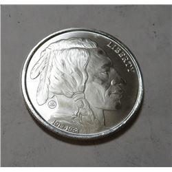 1 oz. Silver Buffalo Design Silver Round .9999