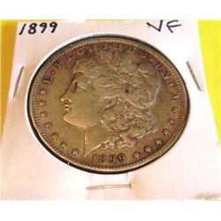 1899 VF Grade Morgan Silver Dollar
