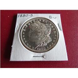 1880 s CRISP BU Morgan Dollar