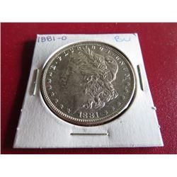 1881 O BU Grade Better Date Morgan Silver $1