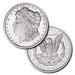 1oz Morgan Design Silver Round