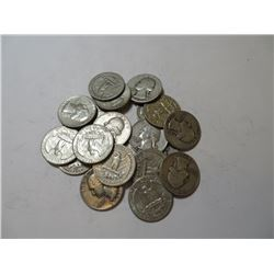 20 pcs. Washington Quarters 90% Silver