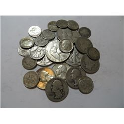 $5 Face Value Mixed 90% Silver Coinage